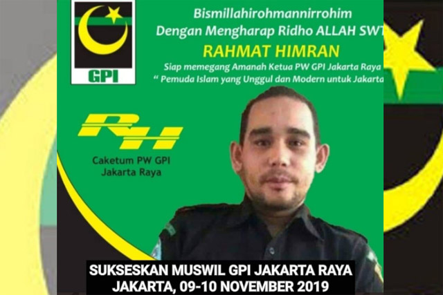 Rahmat Himran Calon Ketua PW GPI Jakarta Raya Akan Kembalikan Ghiroh Perjuangan