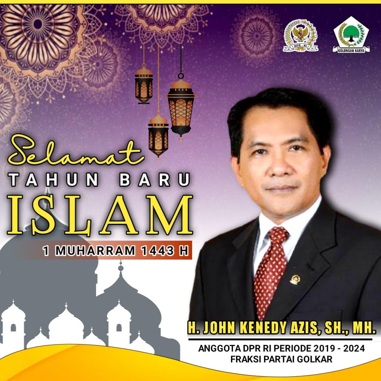 400 x 350 John Azis Ucapan Selamat Tahun Baru Islam 1443 H